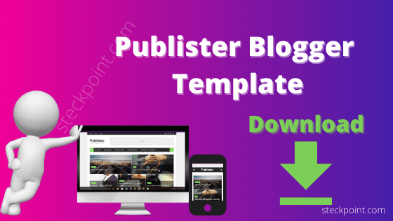 Publister Blogger Template Download
